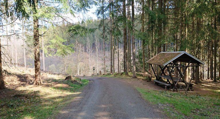 Schutzhütte kurz vor Dittersdorf