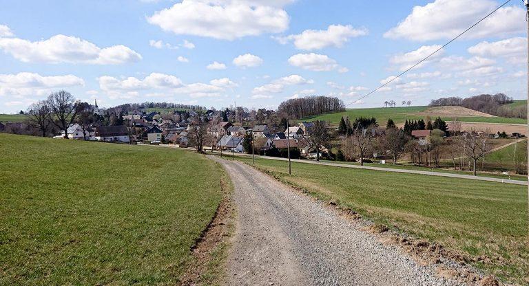 Blick zurück auf Eibenberg