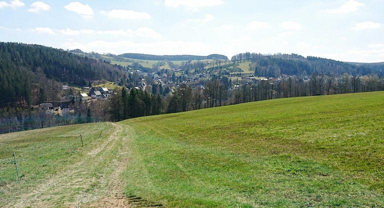 Blick auf Kemtau vom Mühlberg