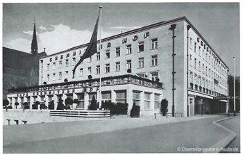 Der erste Spatenstich – die Bauarbeiten am Chemnitzer Hof