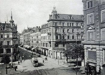 Kaufhaus Schlesinger und Central-Hotel