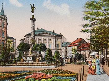 Das Siegesdenkmal an der Theaterstraße