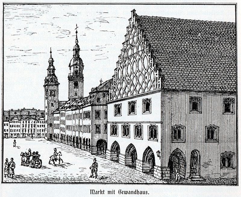 Chemnitzer Markt mit Gewandhaus