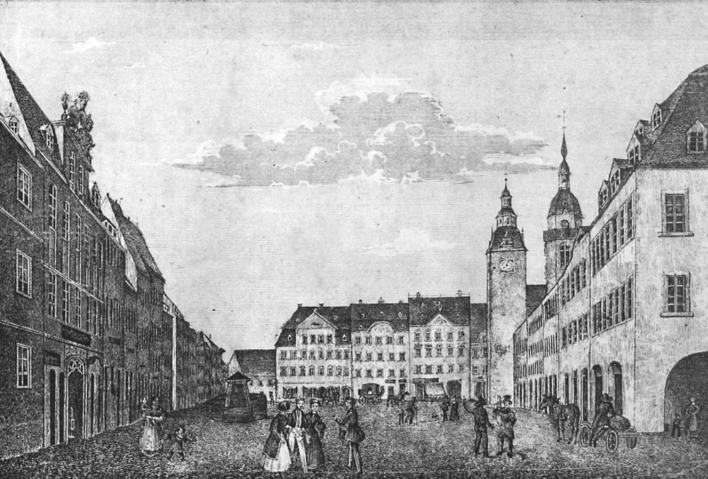 Der Marktplatz zu Chemnitz