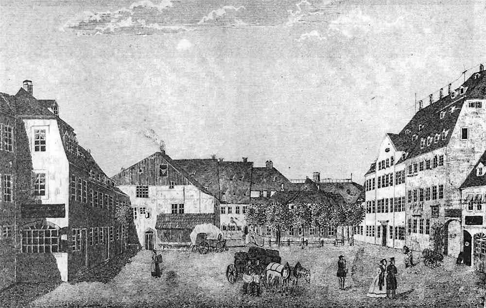 Chemnitz- der Neumarkt, die Hauptwache und das Haupt-Steueramt