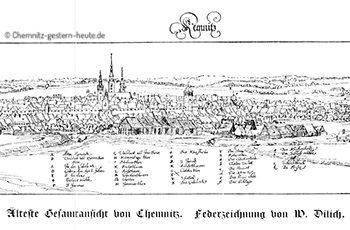 Die 1.Chemnitzer Stadtansicht