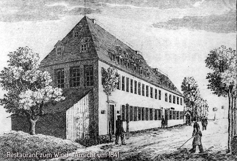 Restaurant Wind in Chemnitz um 1841