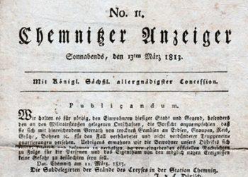 Die älteste Chemnitzer Zeitung