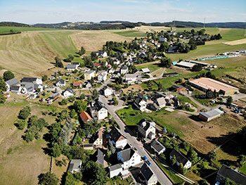Klaffenbach von oben