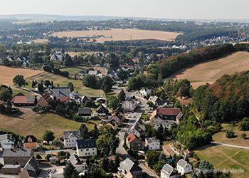 Das Klaffenbacher Mitteldorf im August