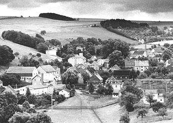 Vom Klaffenbacher Kirchturm gesehen