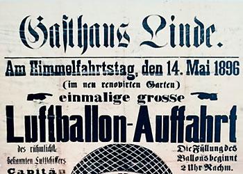 Die Ballonfahrten 1896