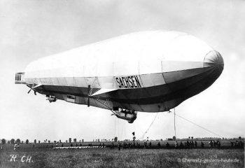 """Luftschiff LZ 17 """"Sachsen"""" in Chemnitz am 31.08.1913"""