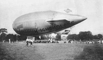 Ein Mini-Luftschiff 1929 in Chemnitz