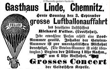 Die Ballonfahrten 1893 in Chemnitz