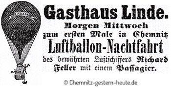 Die erste Ballon-Nachtfahrt 1894