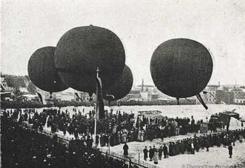 Ballonfahrten im Jahre 1911