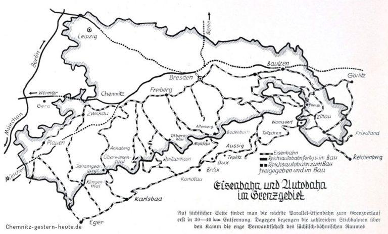 Autobahnnetz in Sachsen