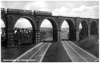 Die Autobahn um Chemnitz