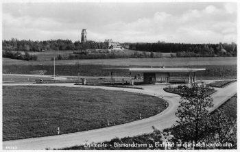 Einfahrt Chemnitz-Nord mit Tankstelle
