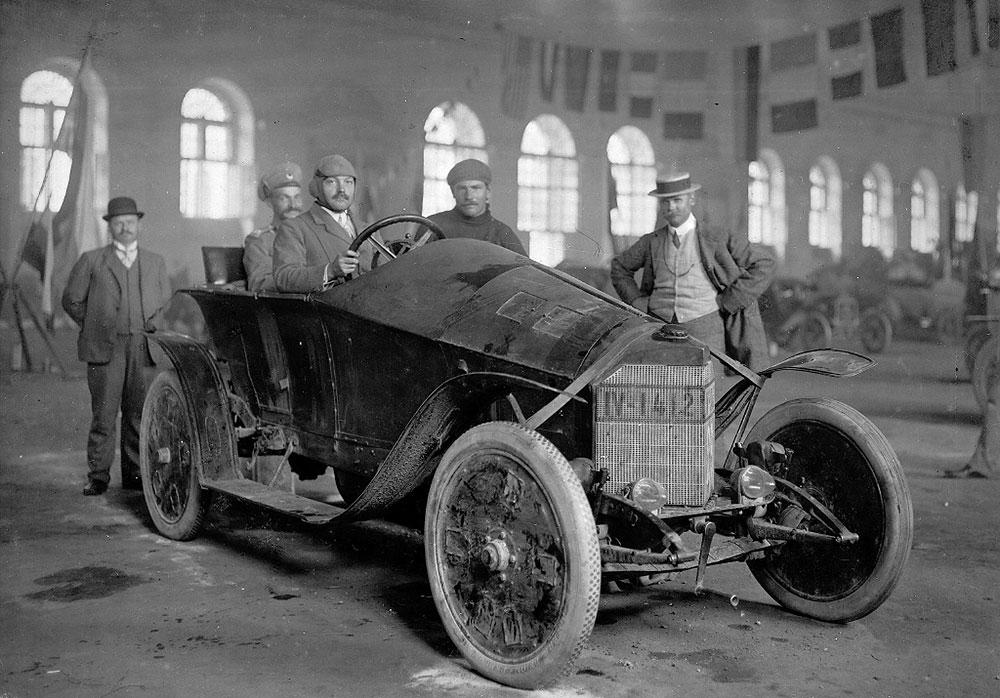 Willy Pöge beim Zarenpreis 1910 in Russland