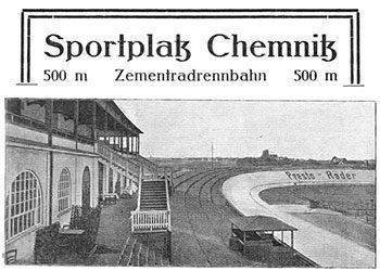 Die Radrennbahn in Chemnitz-Altendorf