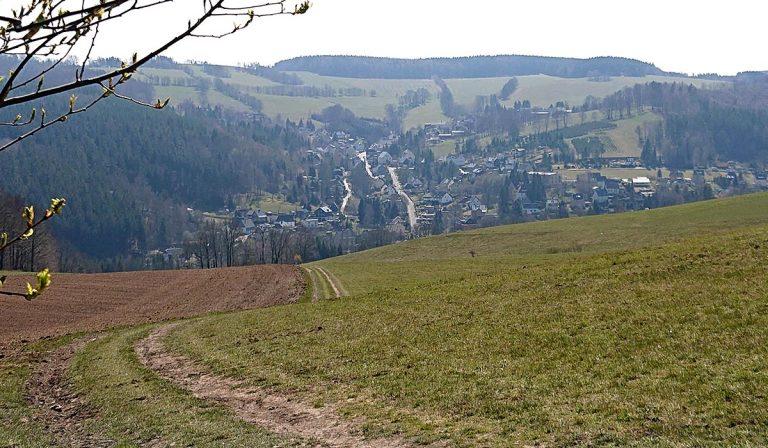 Schöne Aussicht auf Burkhardtsdorf