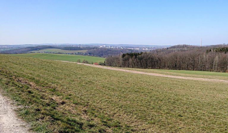 Aussicht auf Chemnitz und Harthau