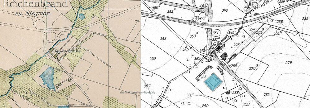 Vergleich des Geländes auf den Plänen 1930 zu 1940