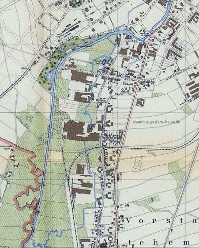 Die Änderungen am Flusslauf bis 1903