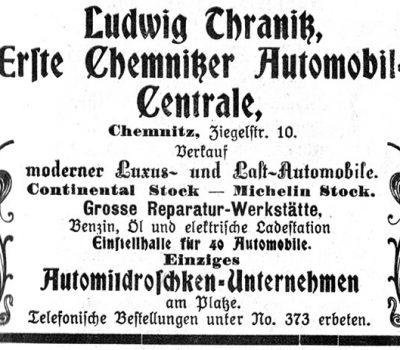 Annonce aus dem Führer durch Chemnitz 1908