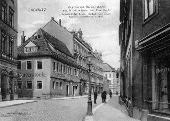 Das Gebäude kurz vor dem Abbbruch 1911