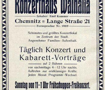 Annonce des Konzerthauses 1914