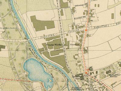 Das Gelände im Stadtplan 1930
