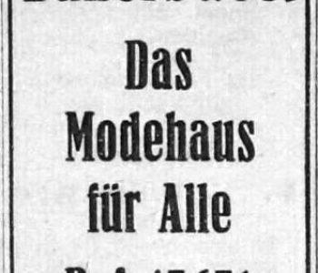 Annonce aus dem Chemnitzer Adrssbuch 1942 der neuen Eigentümer
