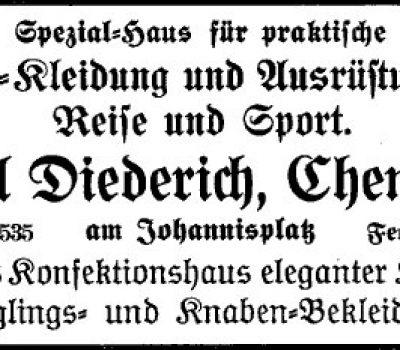 Annonce der Firma Diederich 1920