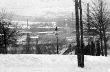 Blick vom Helbersdorfer Hang zur Kauffahrtei