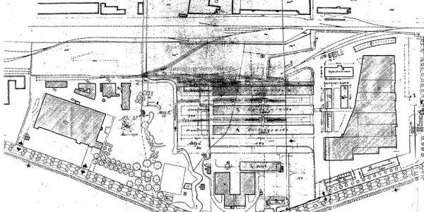 Gesamtplan des nördlichen Bereiches 1943