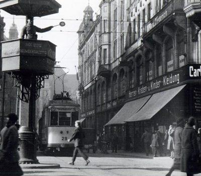 Blick in die Rathenaustraße um 1930