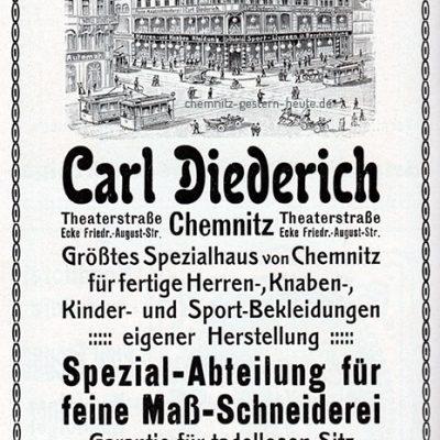 Werbung der Firma 1913