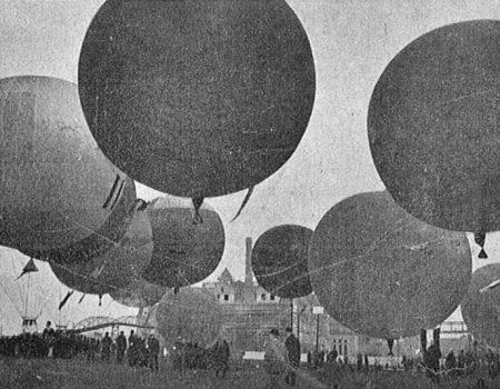 Insgesamt 15 Ballone nahmen an der Wettfahrt teil