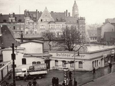 1936 - Blick von der Dresdner Straße Richtung Johanniskirche
