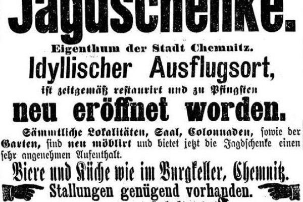 Annonce 1893 zur Übernahme durch J. Günthel