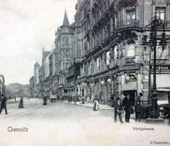 Szene aus der Königstraße um 1905