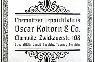Annonce der Teppichfabrik