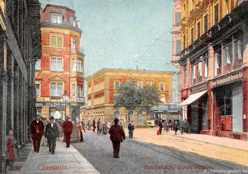 Kronenstraße um 1915 - Kreuzung zur Poststraße