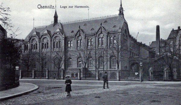 Ansicht des 1904-1905 errichteten Logengebäudes