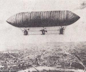 Georg Baumgarten entwickelt das erste Luftschiff
