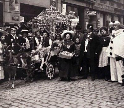 Fleißige Verkäuferinnen in den Straßen