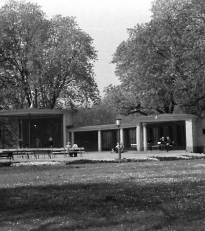 Der Pavillon auf einer Postkarte um 1955